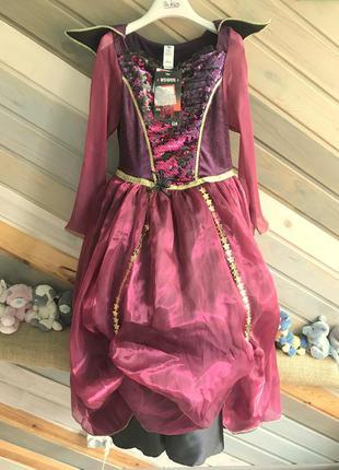 Платье колдунья волшебница ведьма хэллоуин ночь tu7-8л