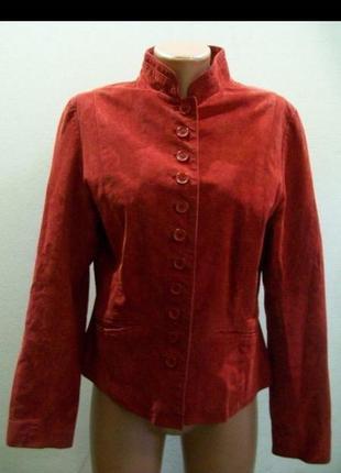 Жакет из натуральной замши пиджак куртка замшевая 100% замша-и...