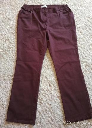 Натуральные брюки из стрейч-котона большого размера 58-60 (54 ...