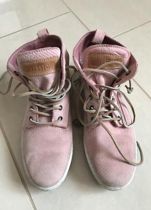 Ботинки кожаные демисезонные дорогой бренд blackstone размер 38