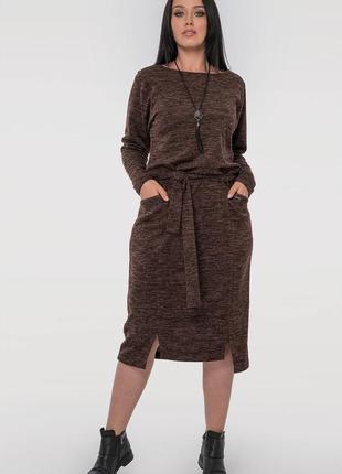 Стильное платье свободного кроя,размер 54-56. бренд v&v