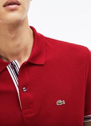 Мужская футболка поло Lacoste Regular Fit Bordo | Оригинал Лакост