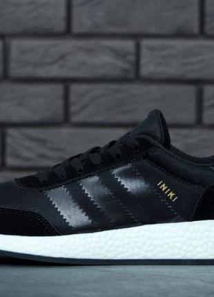 Кроссовки Adidas Iniki Black White. Адидас Иники. Адідас Інікі...