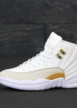Кроссовки Air Jordan 12 Retro White Gold. Кросівки Джордан Рет...