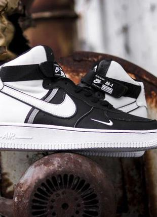 Кроссовки Nike Air Force High LV8 Black White. Кросівки Найк А...