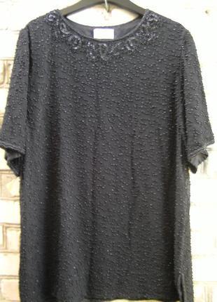 Нарядная блузка, туника, вышивка бисером для шикарных девушек.