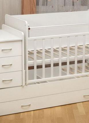 Классная детская кроватка трансформер для новорожденного с мая...