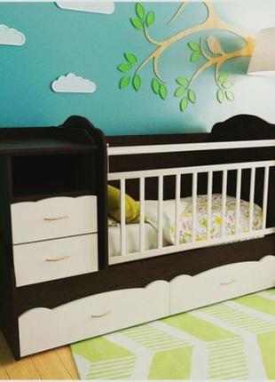 Детская кроватка-трансформер для новорожденного, комбо кроватка