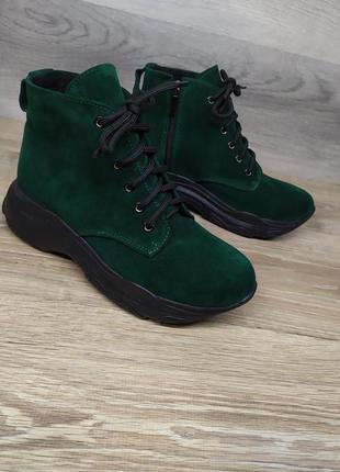 Замшевые ботинки женские , 39  размера  , демисезонные ботинки...