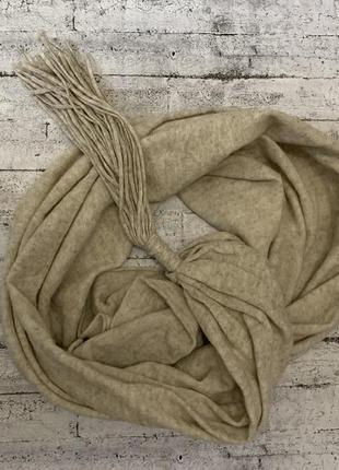 Большой,уютный шерстяной шарф/палантин