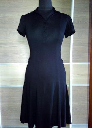 Трикотажное черное платье new look