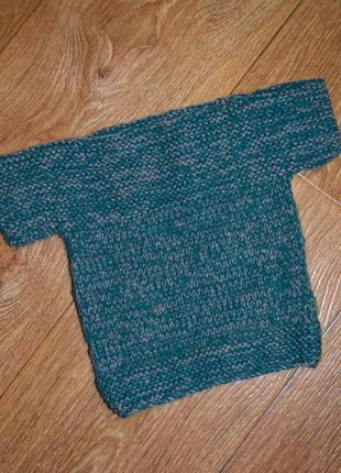 Детский вязаный свитер ручной работы