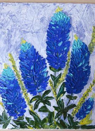 """Картина маслом """"Любимые цветы"""" импасто"""
