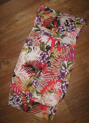 Мини-платье с цветочным принтом