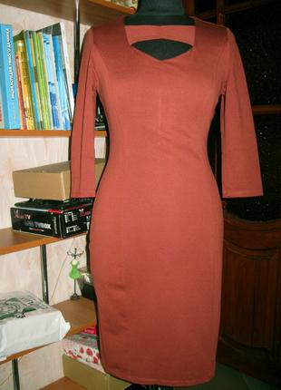 Платье терракотового цвета, вискоза, grand ua