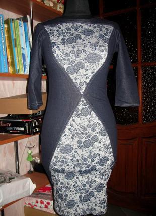 Джинсовое стрейчевое платье, miramod