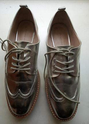 Туфли броги оксфорды зара