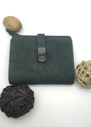 Зеленый женский кошелек canevo