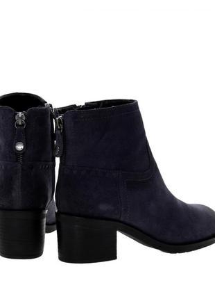 Ботинки демисезонные на удобном каблуке, натуральный замш geox...