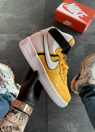 Nike air force 1 high yellow white.