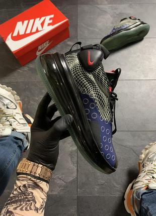 Nike air max 720 sneakerboots black blue.