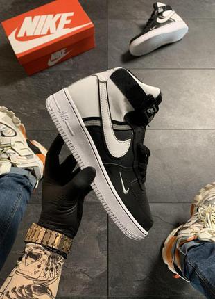 Nike air force 1 high black white.