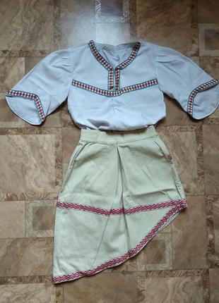 Костюм комплект вышиванка и юбка на девочку
