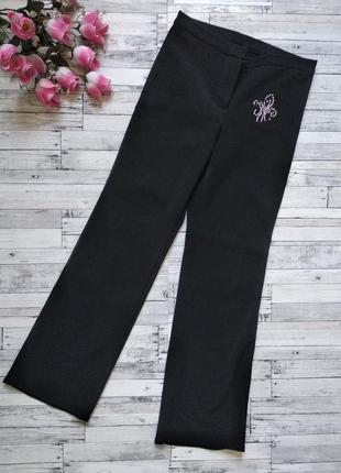 Утепленные школьные штаны брюки на девочку на флисе