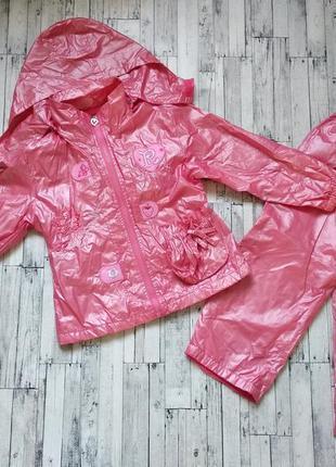 Комплект верхней одежды куртка ветровка и штаны на девочку
