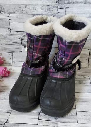 Зимние сапоги на галоше в слякоть для девочки