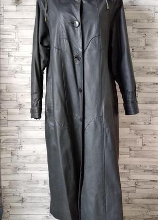 Зимнее натуральное кожаное пальто sheng li длинное женские с м...