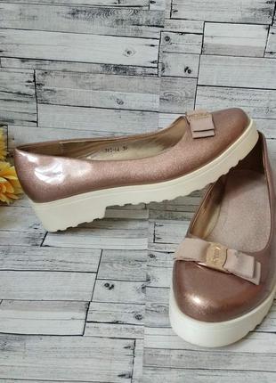 Туфли балетки женские на платформе