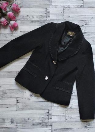 Пиджак школьный на девочку черный