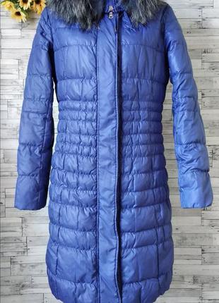 Пуховик куртка пальто clasna женское синее