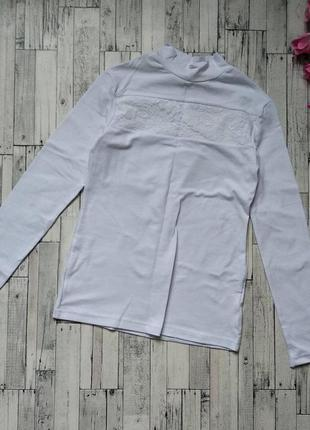 Белый гольф lira kids водолазка блуза на девочку