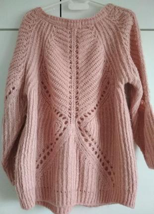 Нежно-розовый свитер ,кофта