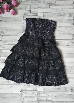 Платье черное tammy на девочку гипюр