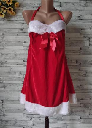 Новогодний костюм снегурочки сексуальное красное платье  женск...