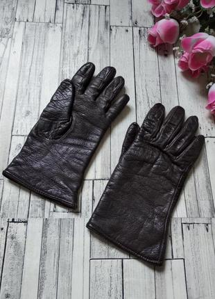 Перчатки женские кожа черные