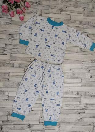 Теплая пижама с начесом на мальчика 2-3 года