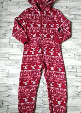 Кигуруми слип пижама next олени вязаный с начесом для девочки ...