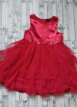Нарядное красное платье george на девочку низ фатин
