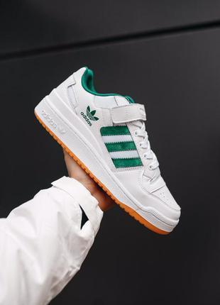 Adidas forum white green шикарные мужские кроссовки адидас фор...