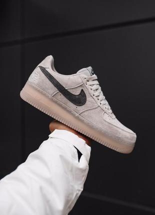 Nike air force 1 low grey шикарные мужские кроссовки серые