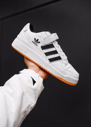 Adidas forum white black шикарные мужские кроссовки адидас фор...