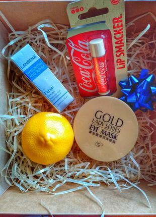 Подарочный набор lip smacker сыворотка, патчи,  крем для рук