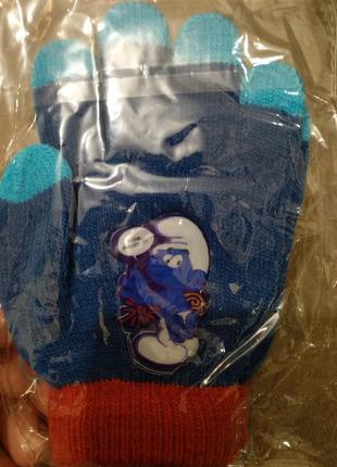 Перчатки  smurf