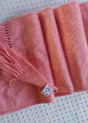 Шерстяной шарф из альпаки alpaca camargo «нежно-розовый»