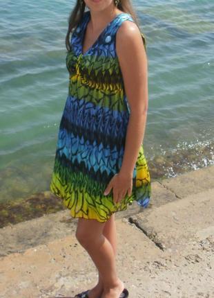 Шифоновое летнее платье (сарафан ) в идеальном состоянии