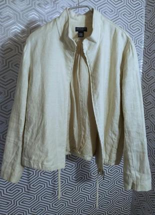 Ann taylor/льняной жакет-куртка  американского бренда в стиле ...